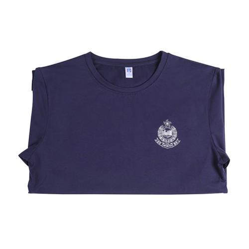 刺繡警徽圓領T恤