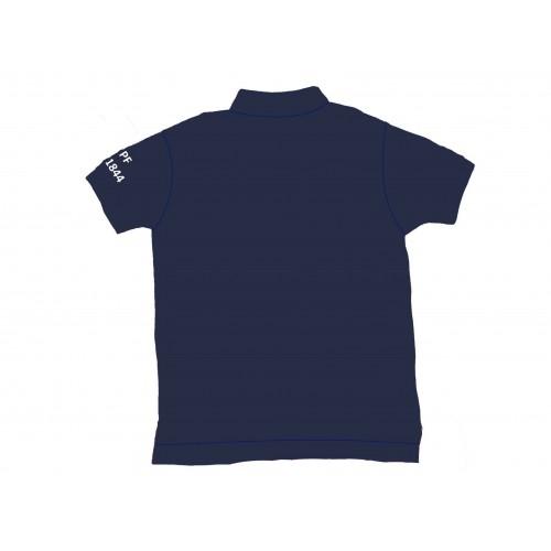 刺繡警徽藍色POLO衫