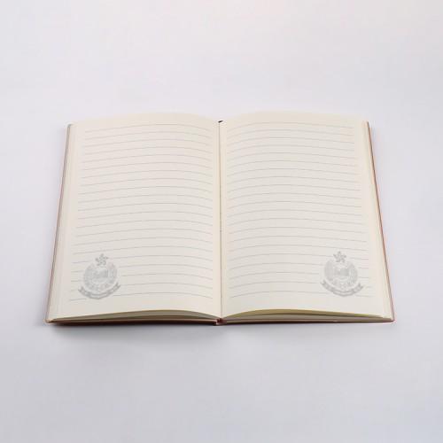 皮質壓紋警徽筆記本6色
